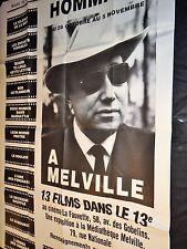 hommage a melville  ! rare  affiche cinema