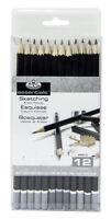 Royal & Langnickel Sketching Pencils Set 12 pc Draw Sketch Art Supply Drawing