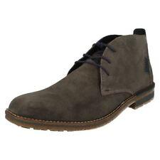 Stivali, anfibi e scarponcini da uomo grigie Rieker