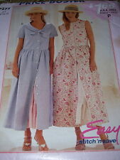 McCALL'S #P275- LADIES PRETTY TWO STYLE COUNTRY DRESS & PETTICOAT PATTERN 6-12FF