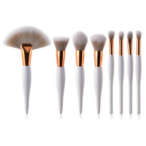 8Pcs Pro Kabuki Makeup Brushes Set Powder Blush Eyeshadow Foundation Brush Tool