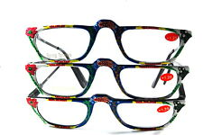 UV 0556 Lady Reading Glass Color Frame +125 3 for 1 price