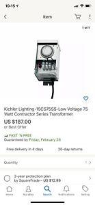 Kichler Lighting-15CS75SS-Low Voltage 75 Watt Contractor Series Transformer