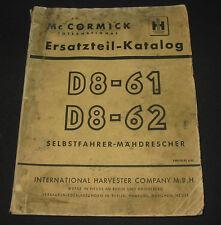 Ersatzteilkatalog Mc Cormick International Harvester Mähdrescher Stand 06/1960!