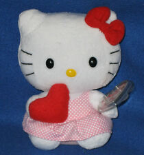 TY HELLO KITTY VALENTINE'S DAY WITH RED HEART BEANIE BABY - MIINT with MINT TAG
