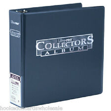 "Ultra Pro 3"" Blue Card Collector Album & 50 Ultra Pro Platinum 9 Pocket Pages"