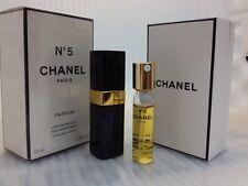 CHANEL No 5 PARFUM 0.25 FL oz / 7.5 ML Parfum Refillable Spray Sealed **FRANCE**