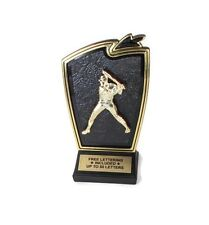 Baseball Male Trophy Batter Award Tudor Series Free Lettering