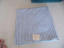 Blue White Stripe Cotton Upholstery Fabric 1 Yard   F880