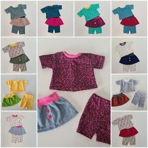 Handmade Puppenkleidung Set für 40 bis 43cm Babypuppen NEU