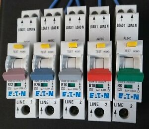 EATON RCBO's eRBM Compact 30mA 40A, 32A, 20A,16A, 10A, 6A. Type B !Live Tested!