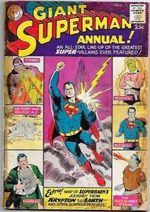 Superman Annual #2, DC Comics 1960  Boring, Swan, Plastino, Swan, Good (tape)