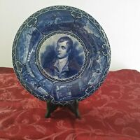 Robert Burn Vintage Historical Blue Sampson, Hancock & Sons Collector Plate