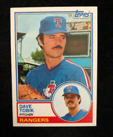 DAVE TOBIK 1983 TOPPS AUTOGRAPHED SIGNED AUTO BASEBALL CARD 113t TIGERS
