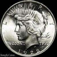 1923 Peace Dollar ~ CHOICE BU Uncirculated ~ LUSTER! ~ 90% Silver US Coin