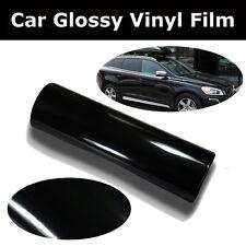 "24"" X 200"" Glossy Black Vinyl Car Wrap Sheet Roll Film Sticker Decal"