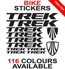 Trek decals stickers sheet (cycling, mtb, bmx, road, bike) die-cut logo