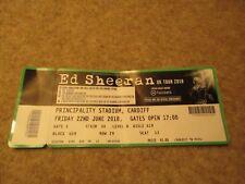 Ed Sheeran UK Tour 2018 Friday 22 June Principality Stadium Cardiff Ticket.