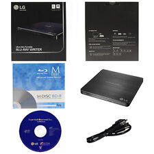LG WP50NB40 6X External Slim Blu-ray CD DVD Drive Burner+1pk Mdisc BD+Software