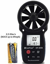 Digital Anemometer Handheld Wind Speed Meter Measuring Temperature Wind Chill