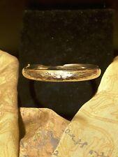 """Vintage Gold Filled Floral Textured Hinged Bangle Bracelet ~6-3/4""""~"""