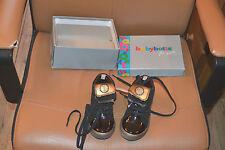chaussure neuve babybotte  24 black avec revers or superbe mondial 3,95