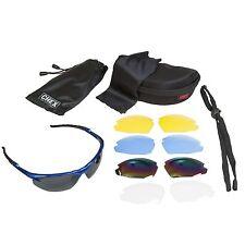 Chex Ace Gafas De Sol Deportes Gafas 5 Lentes Intercambiables Azul flexible marco
