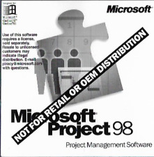 Microsoft Project 98 Project Management Software CD Disc with Key X03-77257
