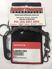 Honda Genuine CHAIN KEYRING W/BOTTLE TOP OPENER, NOVELTY KEYRING STUBBY OPENER