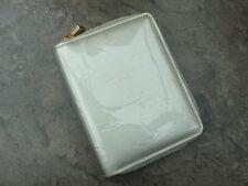 Garanti authentique Louis Vuitton argent vernis Broome petit Zippy Wallet Purse