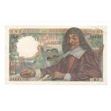 Billet de 100 Francs Descartes type 1942 - 1942