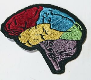 Anatomical Brain embroidered patch
