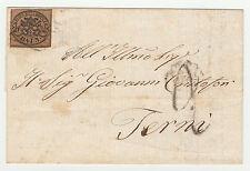 STORIA POSTALE 1862 STATO PONTIFICIO 3 BAJ SU BUSTA Z/3797