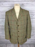 Men's DAKS Tweed Jacket/Blazer - 42S - Check - Good Condition