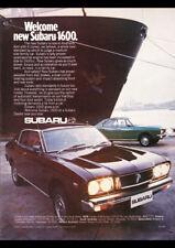 "1976 SUBARU 1600 SEDAN & HARDTOP A3 CANVAS PRINT POSTER FRAMED 16.5""x11.7"""