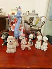 Poodle figurines x9 Vintage and unique