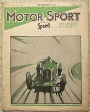 MOTOR SPORT Magazine Oct 1941 Vol 17 No 10 MG Midget