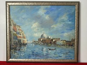 Historical View Of Venice Impressionist Oil Painting In The Style Of Canaletto