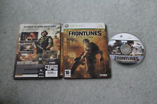 FRONTLINES FUEL OF WAR STEELBOOK EDITION - XBOX 360 - GOOD CONDITION