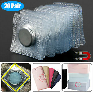 20 Pairs Magnetic Sewing Clasps Buttons Snap Fasteners for Handbag Clothing