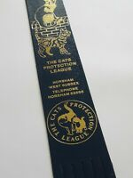 Vintage Leather Collectable Bookmark Souvenir - Cats Protection League.  (B54)