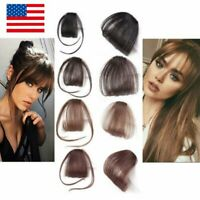 Clip In Real Remy Human Hair Extensions Neat/Thin Air Bang Fringe Hair Extension