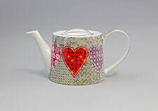 """Porcellana moderno Teiera """"Cuore su Grigio"""" Jameson&Tailor 9952271"""