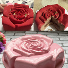 Big Rose Bundt Pan Non Stick Silicone Cake Mold Biscuit Baking Molds Bakeware