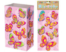 12 Butterfly Printed Paper Party Bags | Butterfly Party Supplies Decoration