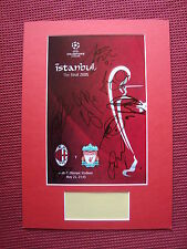 LIVERPOOL 2005 ISTANBUL FINAL PROGRAMME COVER SIGNED x8 A3 MOUNTED DISPLAY-PROOF
