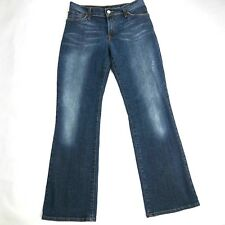 Lucky Brand Jeans Womens Size 30 Short Midrise Flare Distressed Dark Wash D10
