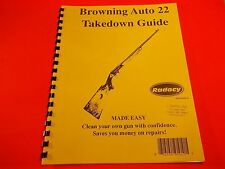 TAKEDOWN MANUAL GUIDE BROWNING AUTO 22 RIFLE, six pages, fully illustrated
