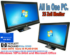 PC + 23Zoll Monitor.HP 8300.All-in-One.Intel Core i5.4x 3.40GHz.Win10 + Office