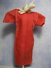 BARBIE doll FASHION fantasy PACK VINTAGE 1983 RED/WHITE PINSTRIPE Dress Tie Neck